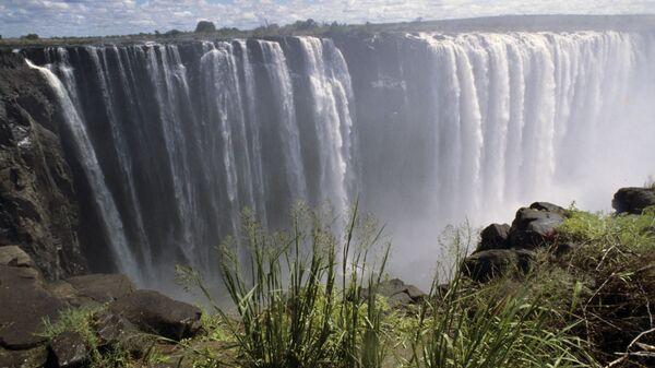 Водопад Виктория на реке Замбези в Южной Африке