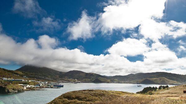 Бухта Малокурильская на острове Шикотан