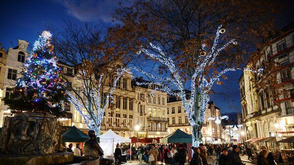 Рождественская ярмарка в Брюсселе, Бельгия