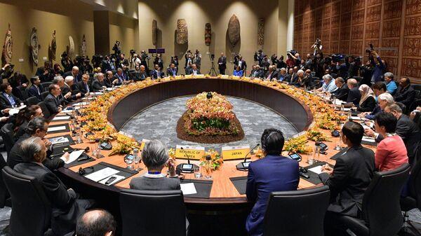 Премьер-министр РФ Дмитрий Медведев на саммите АТЭС в Папуа – Новой Гвинее. 17 ноября 2018