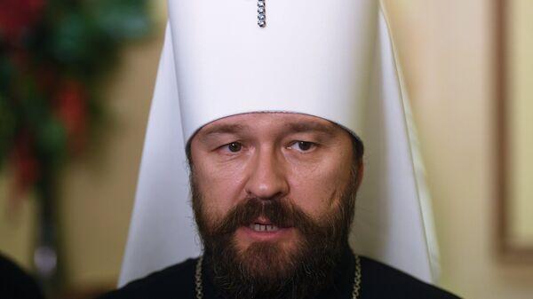 Митрополит Волоколамский Иларион во время визита делегации российских религиозных деятелей в Сирию. 17 ноября 2018