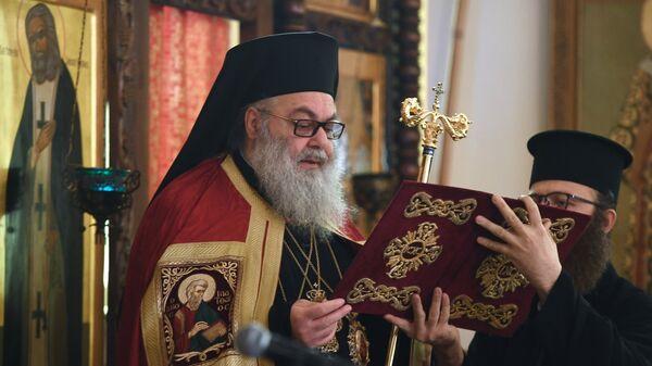 Патриарх Антиохийский и всего Востока Иоанн Х на торжественной литургии в Дамаске. 18 ноября 2018