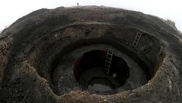 Добыча янтаря в поселке Янтарный