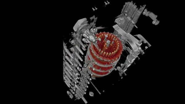 Стоп-кадр анимации машины Enigma X-ray CT
