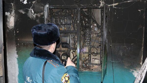 Пожар в городе Тула на улице Гарнизонный проезд. 21 ноября 2018