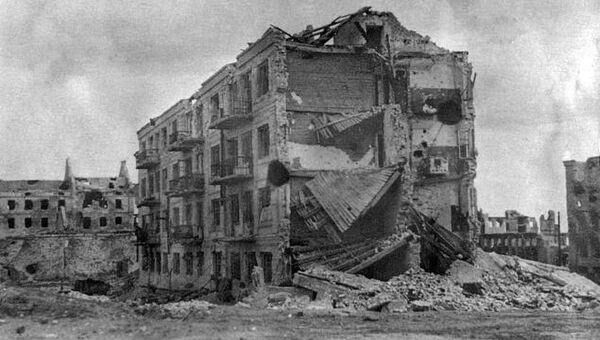После окончания Сталинградской битвы. На заднем плане — Мельница Гергардта