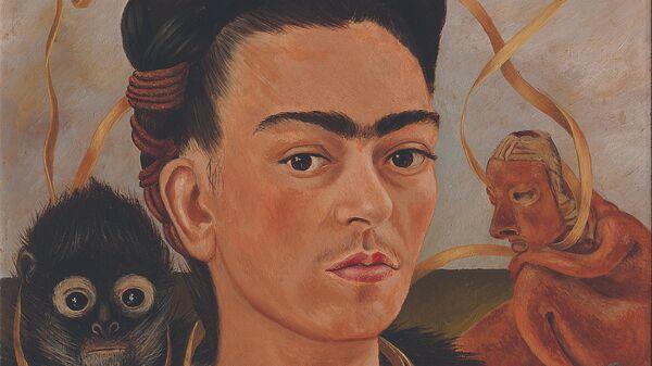 Фрида Кало. Автопортрет с обезьянкой. 1945