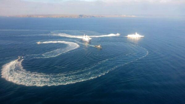 Три корабля ВМС Украины, нарушившие госграницу РФ. Архивное фото