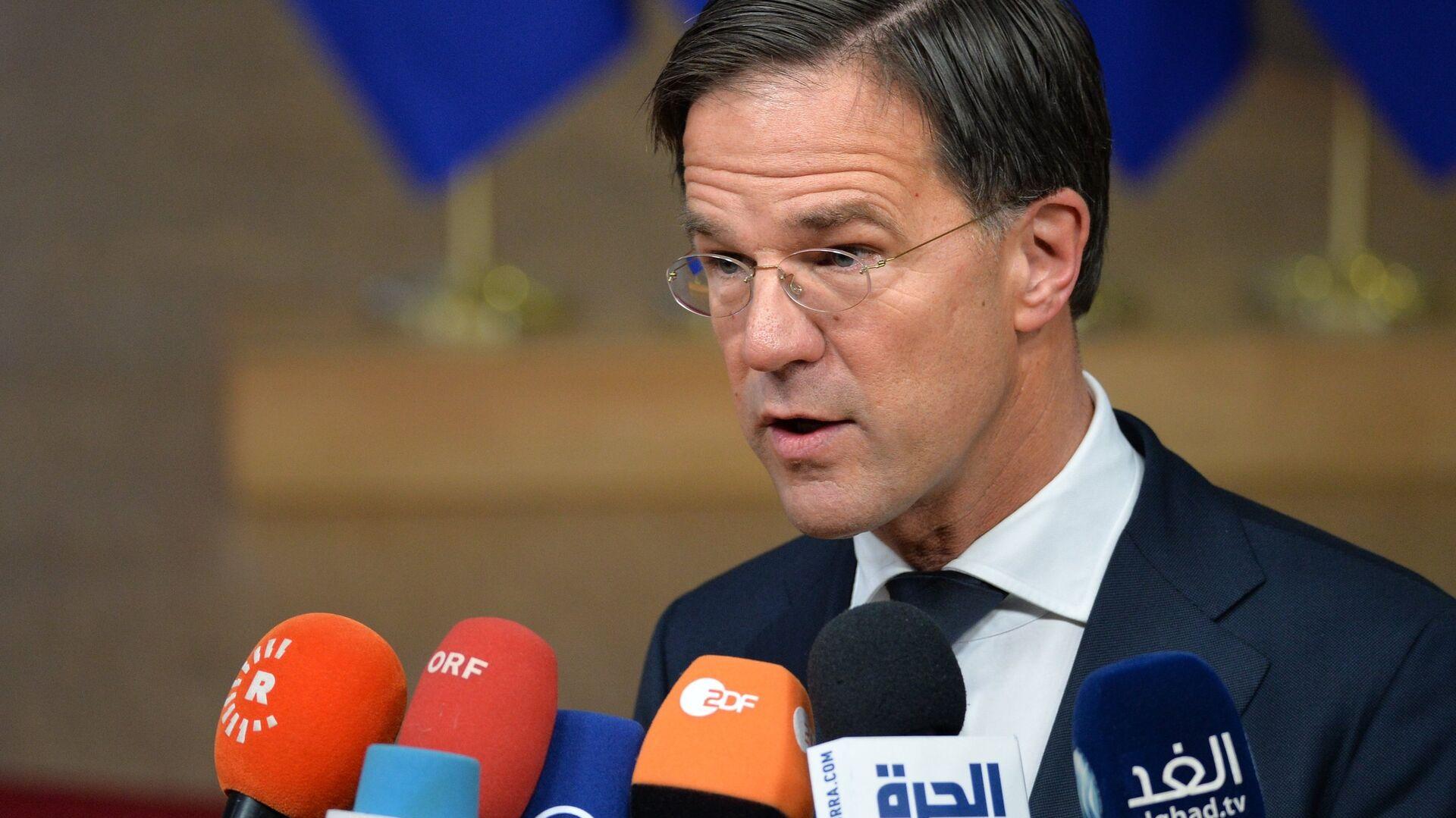 Премьер-министр Нидерландов Марк Рютте на внеочередном саммите ЕС по брекзиту в Брюсселе. 25 ноября 2018 - РИА Новости, 1920, 14.06.2021