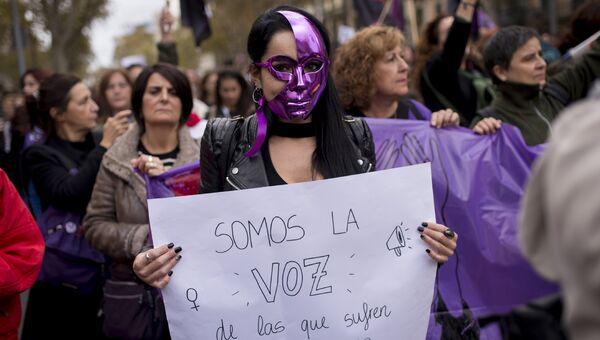 Акция в Международный день борьбы за ликвидацию насилия в отношении женщин, Испания. 25 ноября 2018