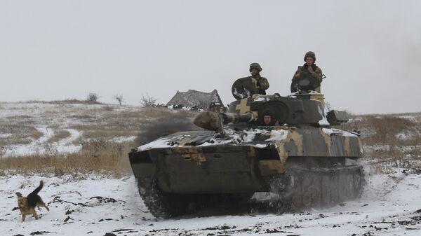 Бронетехника ВСУ на востоке Украины. 26 ноября 2018