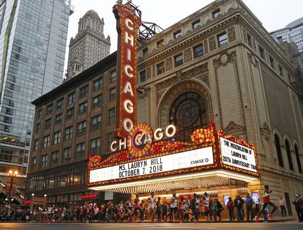 Здание театра в Чикаго