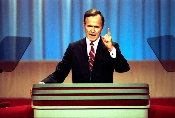 Вице-президент США Джордж Герберт Уокер Буш. 1988