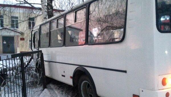 ДТП с пассажирским автобусом в Вичуге, Ивановская область. 4 декабря 2018