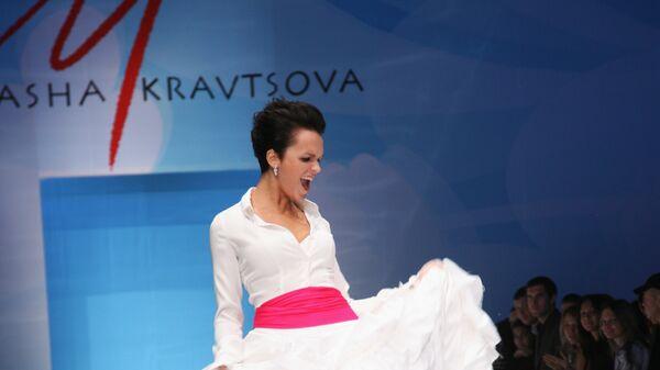 Показ дебютной коллекции Маши Кравцовой в рамках Russian Fashion Week.