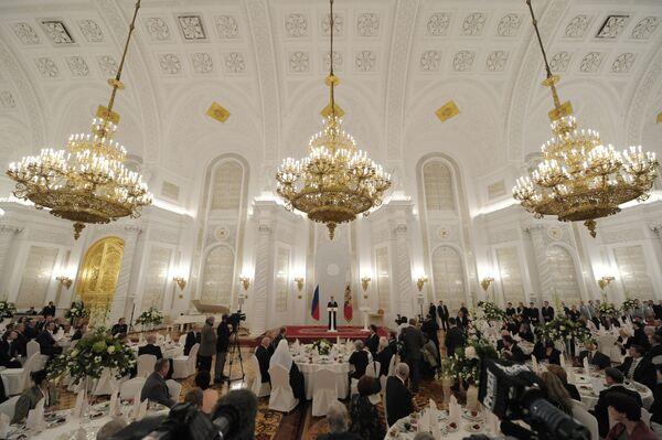 Прием в Георгиевском зале Кремля по случаю празднования Дня народного единства в России