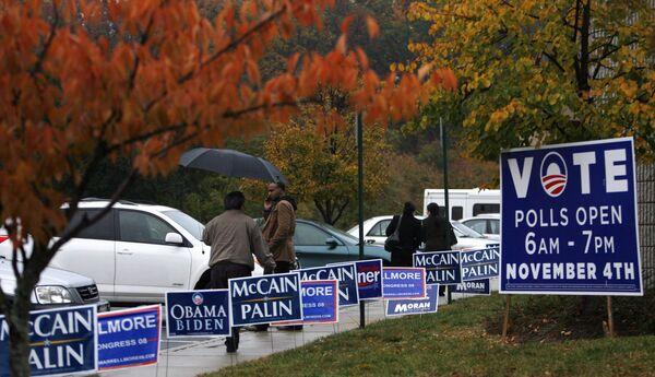 Избирательный участок в Вирджинии