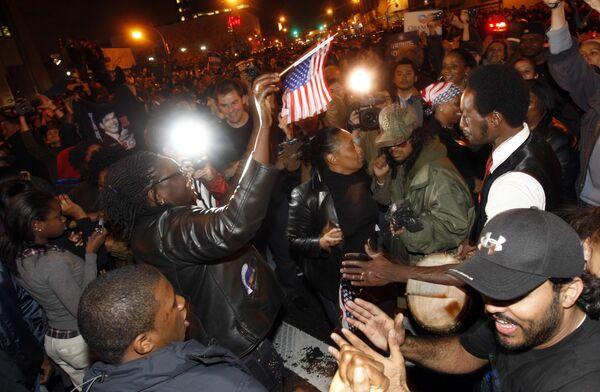 Сторонники Обамы парализовали движение в центре Нью-Йорка