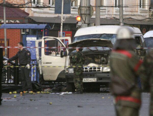 Взрыв в маршрутном такси во Владикавказе