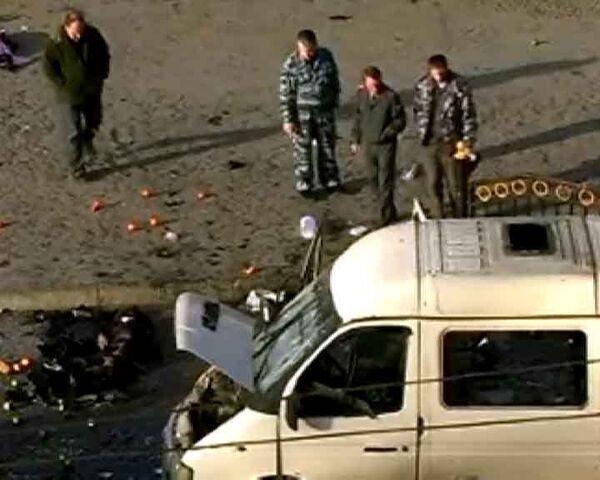 Взрыв маршрутки во Владикавказе. Видео с места события