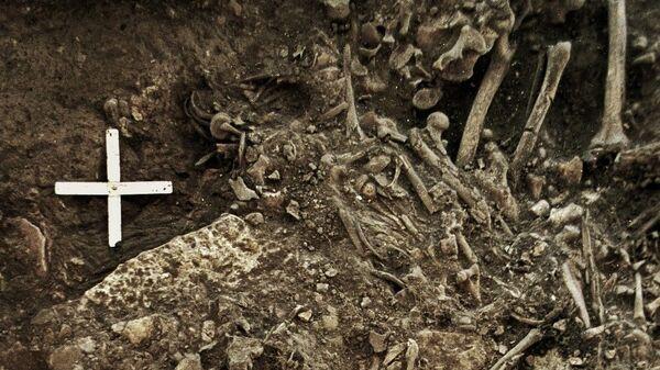 Одна из древнейших жертв чумы, чьи останки были найдены в Швеции