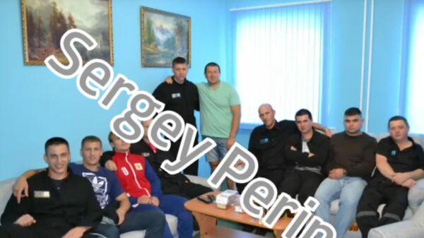 Скриншот видео фотографий Вячеслава Цеповяза в колонии с 2014 по 2017 год