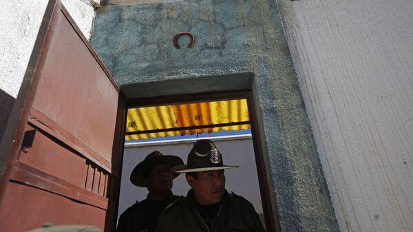 Полицейский в Боливии
