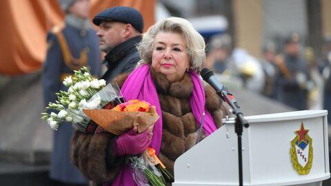 Татьяна Тарасова на открытии памятника заслуженному тренеру СССР Анатолию Тарасову