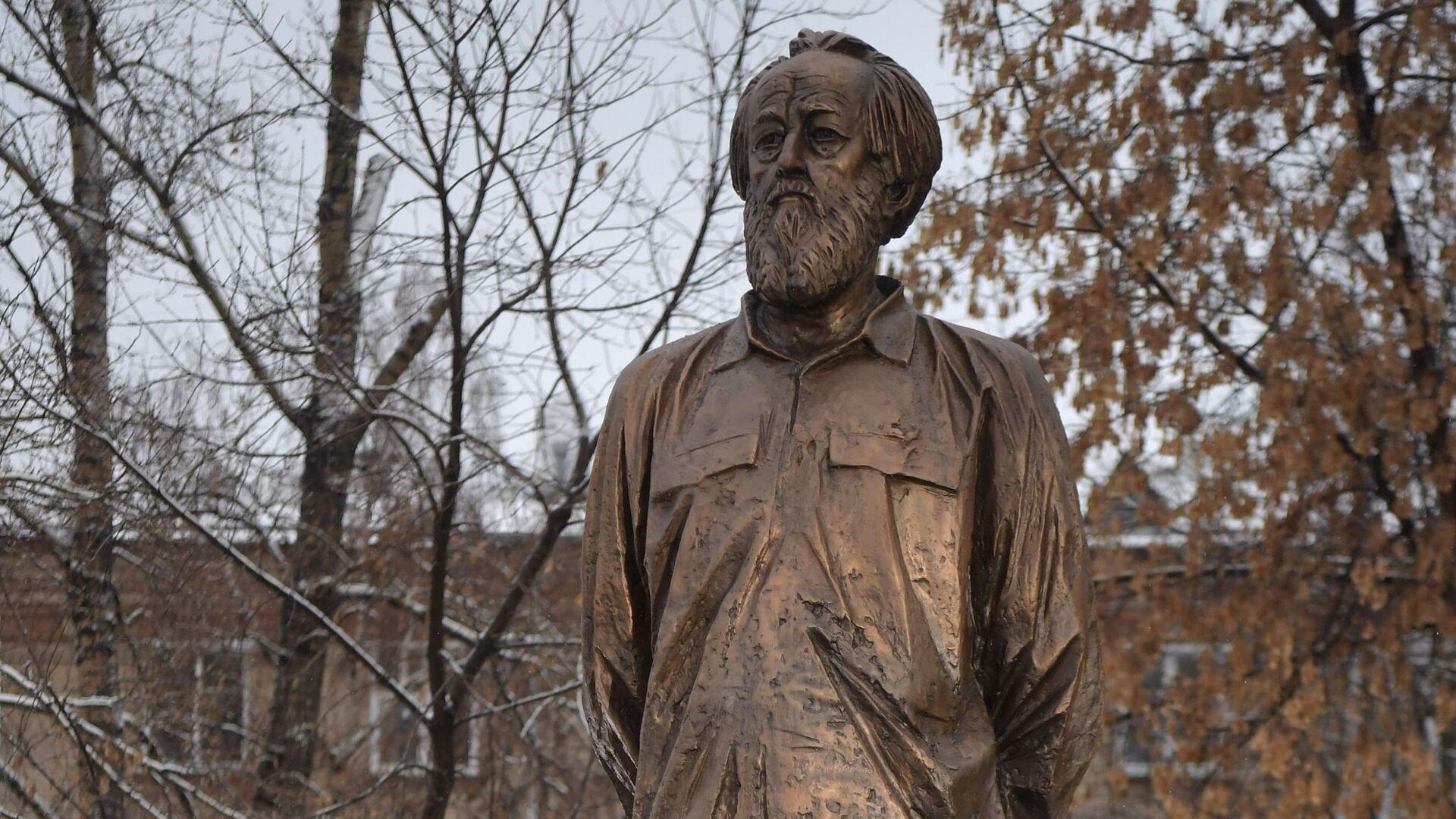 Открытие памятника писателю А. Солженицыну - РИА Новости, 1920, 11.12.2018