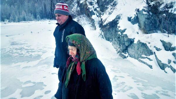 Сергей Цивилев и Агафья Лыкова. 11 декабря 2018