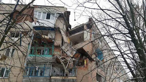 Последствия взрыва газа в жилом дома в Фастове, Украина. 14 декабря 2018
