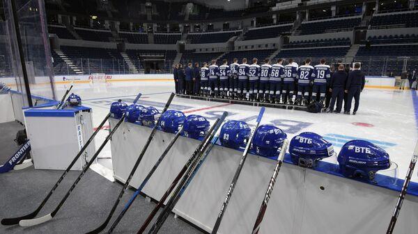 Тренировка ХК Динамо (Москва) на новом стадионе