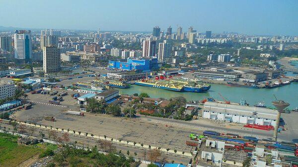 Гавань в Китайском городе Хайкоу