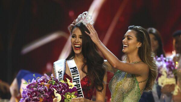 Победительница международного конкурса красоты Мисс Вселенная Катриона Грэй. 17.12.2018