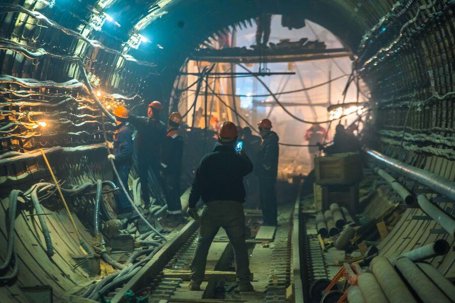 Строительство станции БКЛ Савёловская