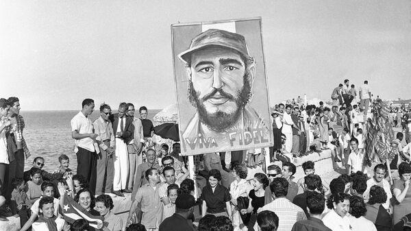 Сторонники Фиделя Кастро в Гаване. 8 января 1959