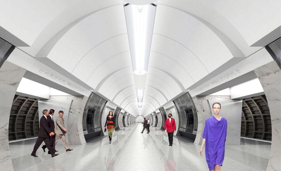 Станция московского метро БКЛ Савёловская (проектное название - Нижняя Масловка)