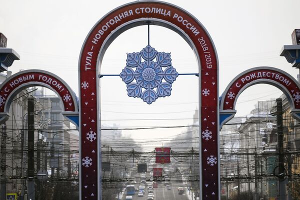 Площадь Ленина в Туле в преддверии Нового года
