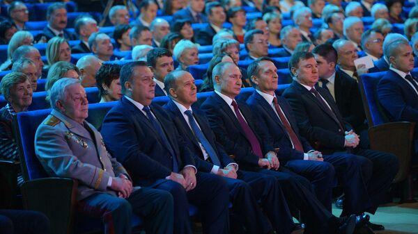 Президент РФ Владимир Путин на торжественном вечере по случаю Дня работника органов безопасности