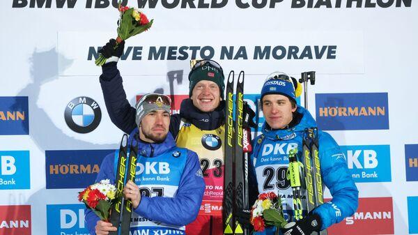 Александр Логинов, Йоханнес Бё и Мартин Понсилуома (слева направо)