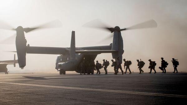 Военнослужащие 7-го полка морской пехоты США в Сирии