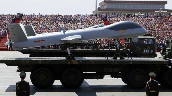 Беспилотный летательный аппарат Wing Loong на параде в Китае