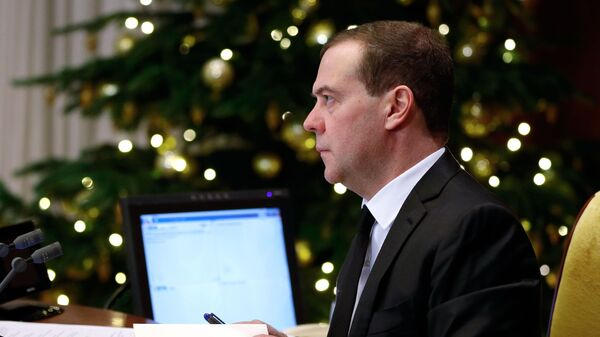 Председатель правительства РФ Дмитрий Медведев проводит заседание президиума Совета при президенте РФ по стратегическому развитию и национальным проектам