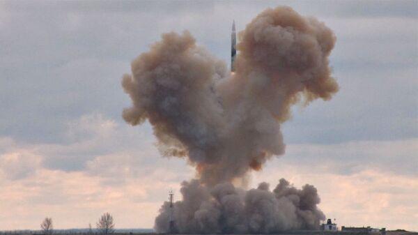 Испытание российского ракетного комплекса стратегического назначения с гиперзвуковым планирующим крылатым блоком. Архивное фото