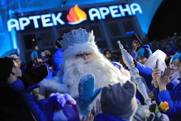 Дед Мороз из Великого Устюга в Артеке
