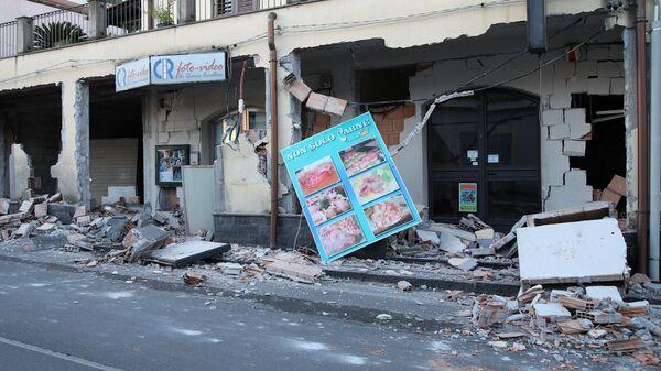 Последствия землетрясения на Сицилии, Италия. 26 декабря 2018