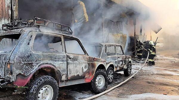 Пожар на авторынке в Сочи. 28 декабря 2018
