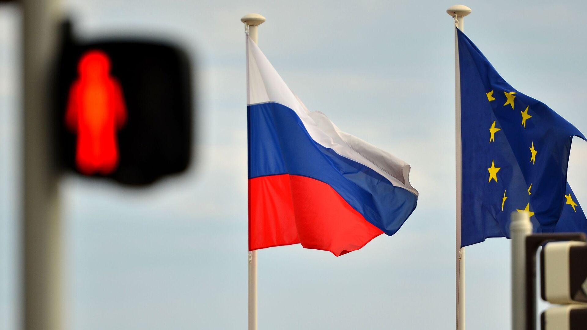 Флаги России и ЕС - РИА Новости, 1920, 22.10.2020