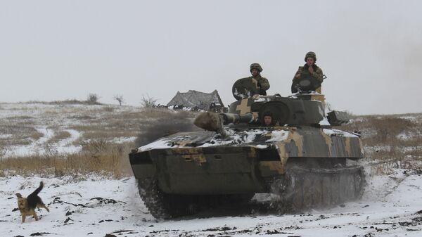 Солдаты украинской армии на востоке Украины. 26 ноября 2018 года