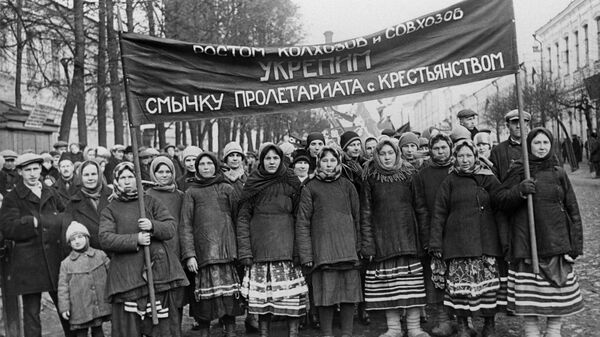 Празднование XII годовщины Октября. Орехово-Зуево, Московская область, 7 ноября 1929 года